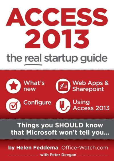 AS3 cover 400x566 - Access 2013: the real startup guide