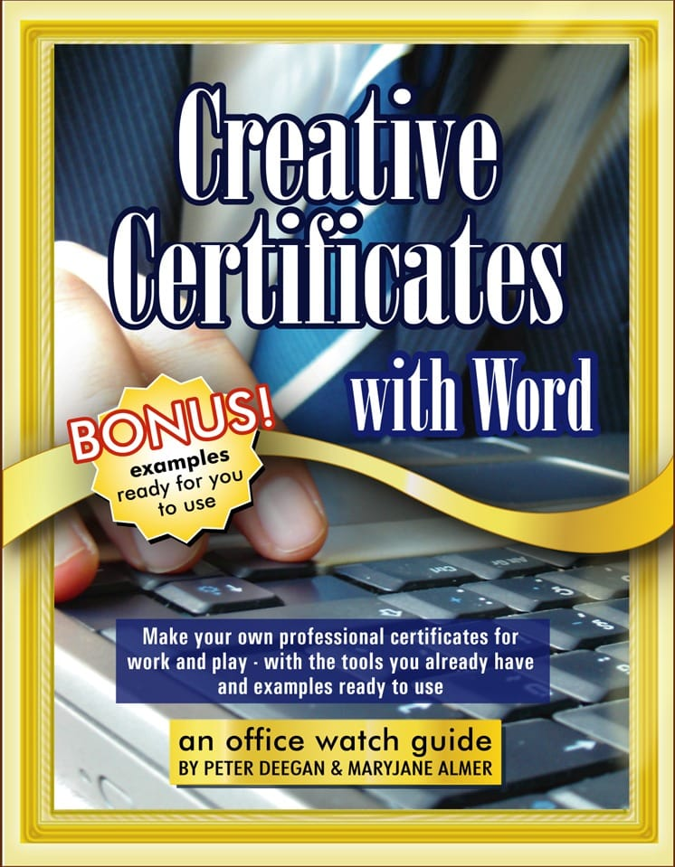 Creative Certificates with Word Office Watch – Certificates in Word
