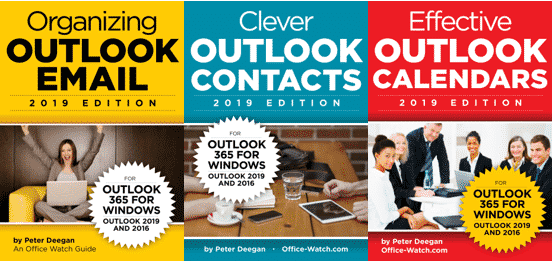 Combined Outlook Books - Outlook 365/2019 - three ebooks - special offer