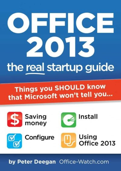 Cover 400x566 - Office 2013: the real startup guide