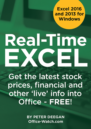 Real time excel gets bitcoin and more office watch the update is available now to past purchasers who login to their ebook account and download a complete replacement fandeluxe Choice Image