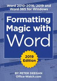 FW3 cover 1 - Formatting Magic with Word