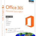 Office 365 Personal box with globe