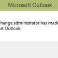 Outlook - Exchange error message