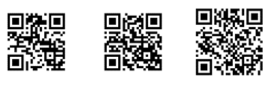 QR codes of increasing error correction redundancy - Making QR Codes for Word and Office
