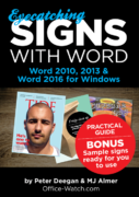 Eye-Catching Signs with Word