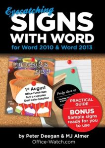 Eye Catching Signs with Word