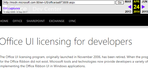 Can The Microsoft Office Ribbon Be Used By Other Developers