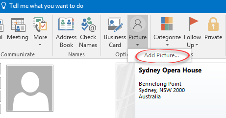 Contact Pictures In Outlook Office Watch