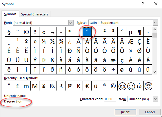 Degree Symbol In Word Excel And Powerpoint Office Watch