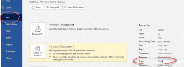 Discover the Content Status flag in Word, Excel and PowerPoint