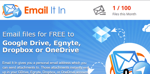 Email a document to OneDrive, DropBox or other cloud storage