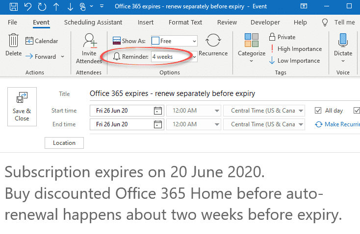 office 365 expired but still works