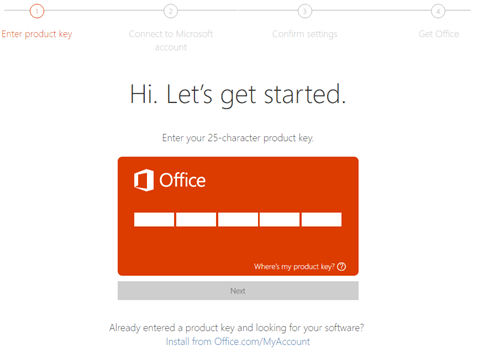 office 25 character product key