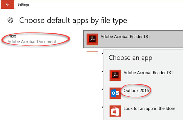 Fix: Outlook  msg files switch to Acrobat  PDF - Office Watch
