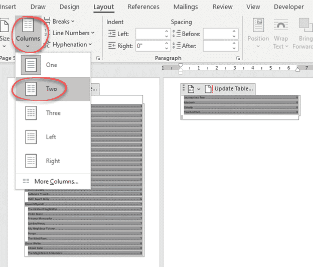 Four Tricks To Shrink A Table Of Contents In Word