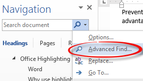 Highlight search words in excel