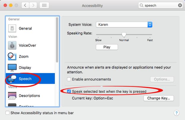 Powerpoint text to speech mac