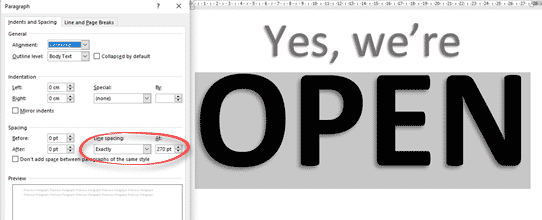 image 21 - Great OPEN signs in Word for any business