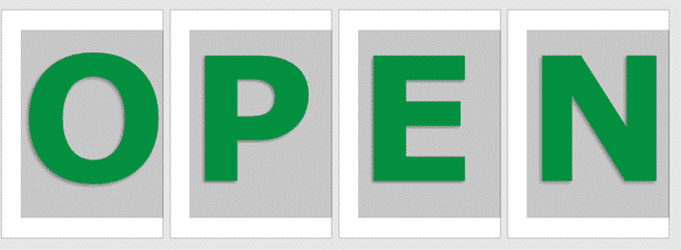 image 25 - Great OPEN signs in Word for any business