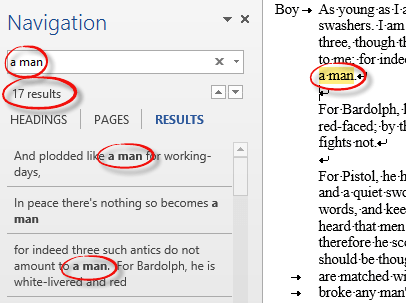 More Word Find / Search tricks