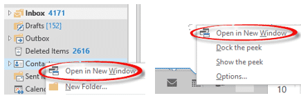 Outlook window positions explained - Office Watch