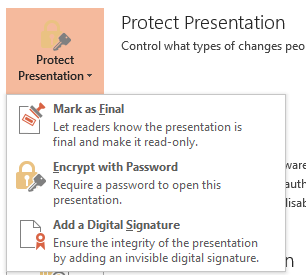 how to make a read only file in powerpoint