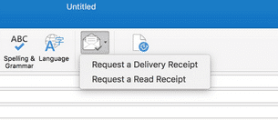 how to add a read receipt in outlook 2017