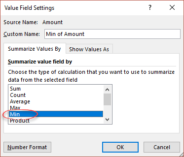 Changing PivotTable Calculations using the Value Field Settings ...