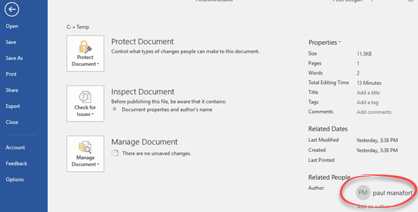 img 5a30476473ad5 - Changing the Author name in an Office document