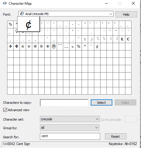 img 5c694b343d486 - Cent ¢ symbol in Word, Excel, PowerPoint or Outlook