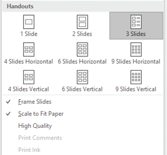 img 5d652623f418e - Finding all the Handouts options in PowerPoint with slides, notes and more
