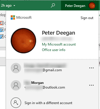 Instant account switching comes to Office 365 - Office Watch