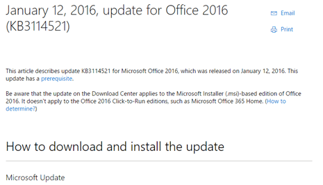 January 2016 Office 'hidden' bug fixes and mysteries - Office Watch