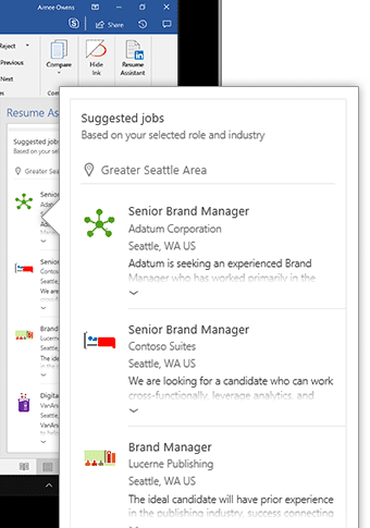 linkedin resume assistant for word 2016 office watch