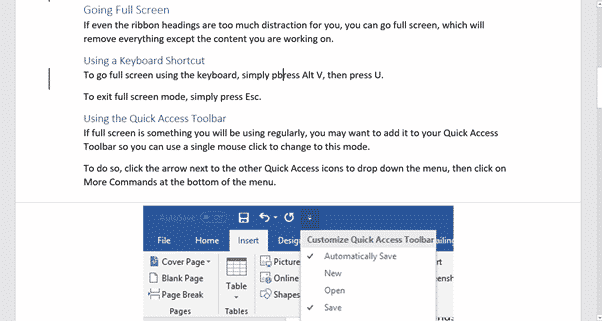 Make a distraction free Microsoft Word - Office Watch