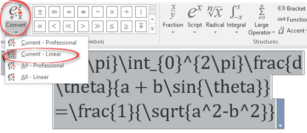 Maths equation and LaTeX improvements in Word 2016 - Office Watch