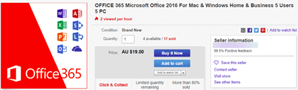 More Office 2019 buying scams on Amazon and Ebay - Office Watch