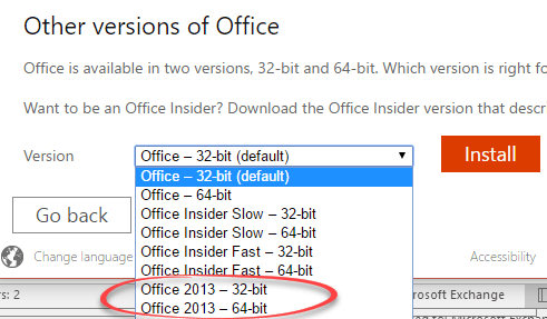 office 2013 with office 365 home or office 365 personal