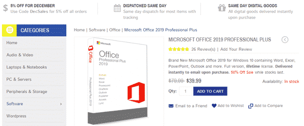 Microsoft Word 2019 for sale