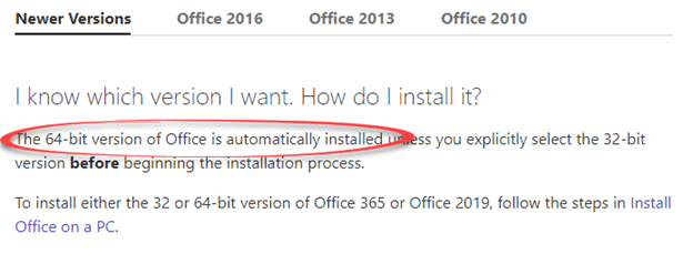 Office 365/2019 change from 32-bit to 64-bit with little