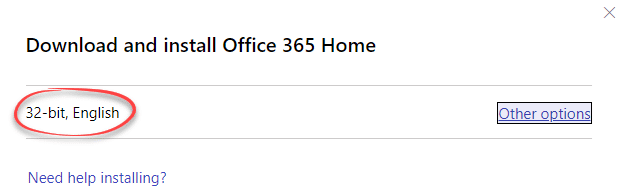 Office 365/2019 change from 32-bit to 64-bit with little warning