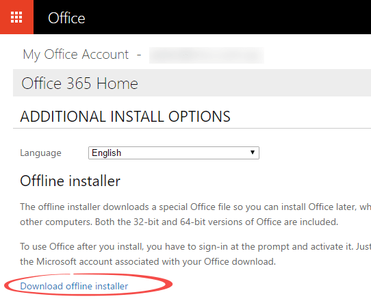 Office 365 full download install option - Office Watch
