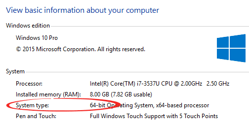 how to choose between win10 64 or 32 bits