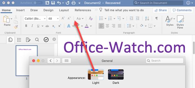 office mac dark mode