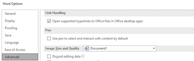 Opening Office file hyperlinks in Office desktop apps not