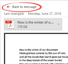 Outlook attachment preview tricks - Office Watch