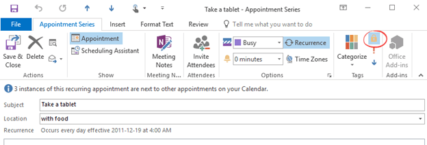 Outlook repeating appointments tricks - Office Watch
