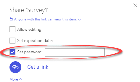 Password Protected file sharing links with OneDrive - Office