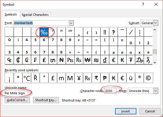 per thousand per mille sign in word excel and powerpoint microsoft